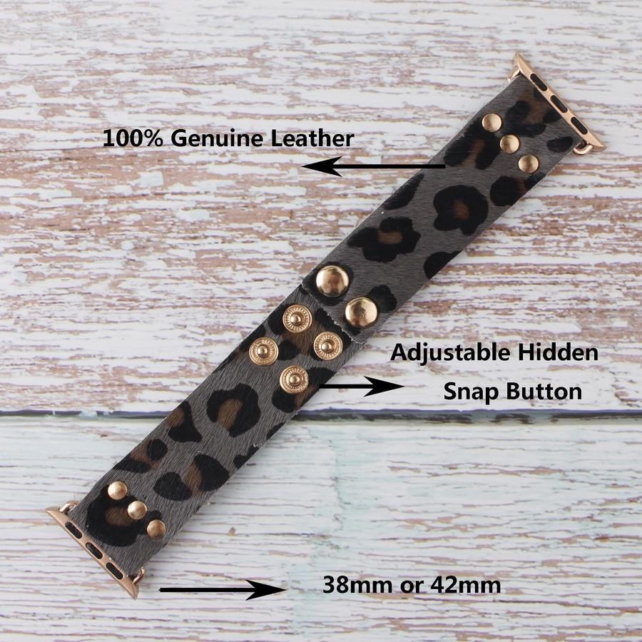 Apple Handmade Leather Adjustable Bracelets for Apple Watch Band 38mm 42mm Genuine Leather Apple Watch iWatch Strap