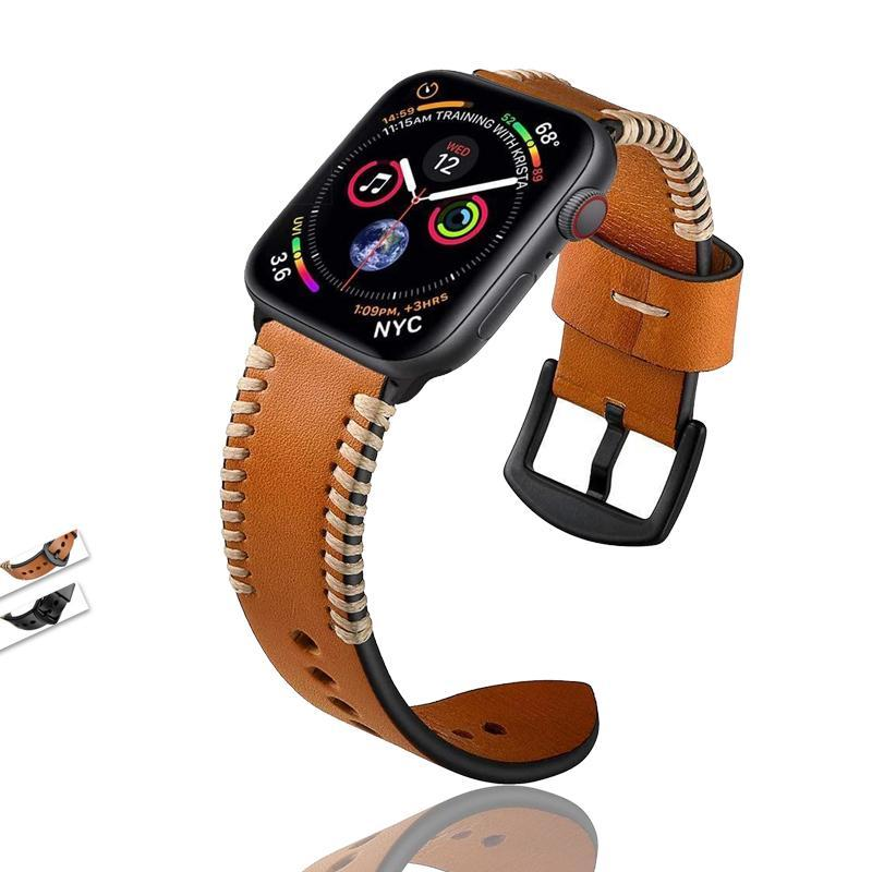 Apple Handmade Watch Strap for Apple Watch Band 42mm 38mm for iWatch 4/5 40mm 44mm Watchband for Apple watch Series 1/2/3/4/5