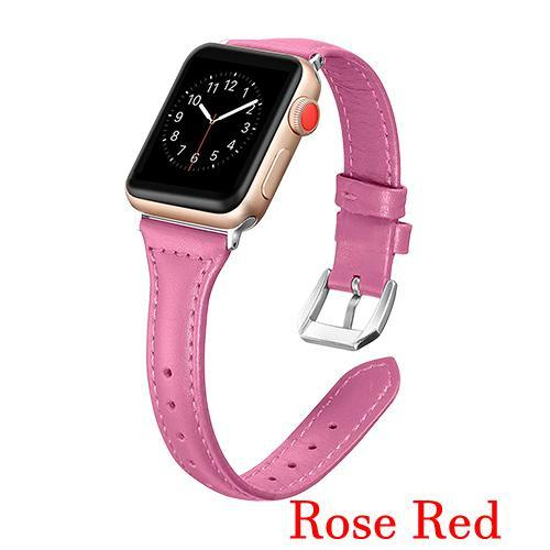Apple Hot pink / 42mm 44mm AW Pulseira strap For apple watch band iwatch 4 3 42mm 38mm 44mm 40mm correa for apple watch band leather Bracelet Accessories, USA Fast Shipping