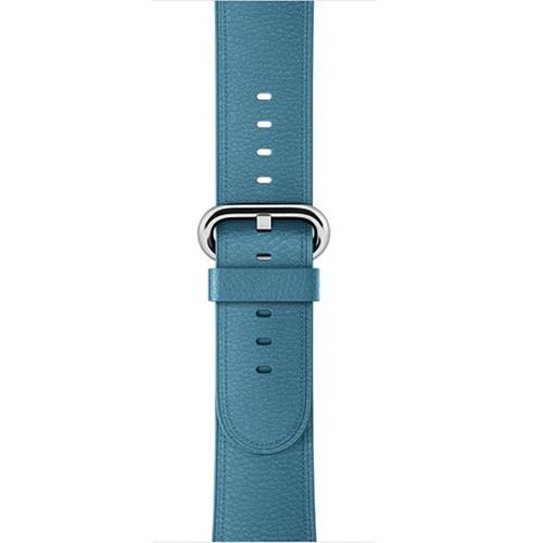 Apple Ice Sea Blue / 42 mm Leather Strap For Apple Watch Band 42mm 38mm iwatch 4/3 Bracelet 44mm 40mm bracelet Stainless Steel Classic Buckle Watchband, USA Fast Shipping