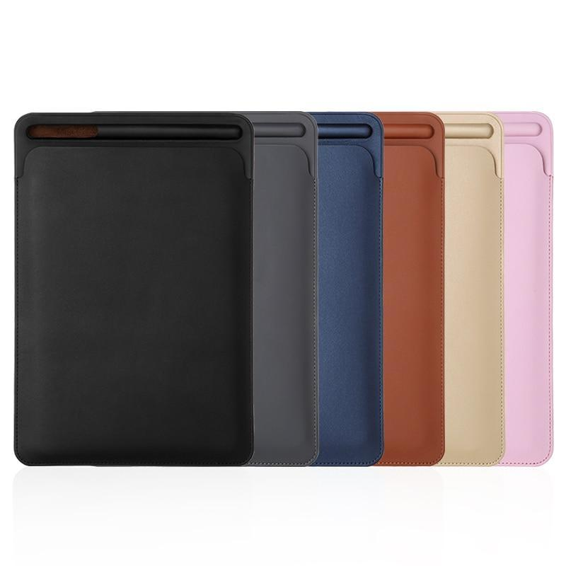 Apple iPad Pro 12.9 leather Sleeve Case  Pouch Bag Cover with Pencil Slot