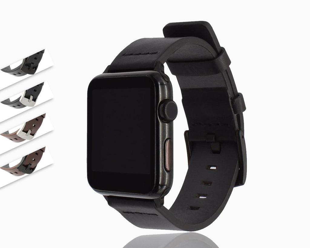 Apple Italy Genuine Leather Watchband for iWatch Apple Watch 38mm 40mm 42mm 44mm Series 1 2 3 4 Band Steel Buckle Strap Wrist Bracelet