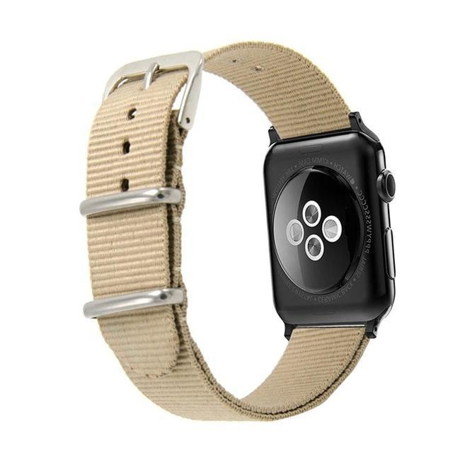 Apple Khaki / 44mm Woven Nylon Band Watchband For Apple Watch 3 42mm 38mm fabric-like strap iwatch 3/2/1 wrist band nylon watchband belt
