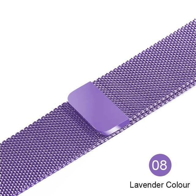 Apple lavender / For 38MM and 40MM milanese loop for apple watch Series 1 2 3 4 5 band for iwatch stainless steel strap Magnetic buckle 38mm 40mm 42mm44mm Bracelet