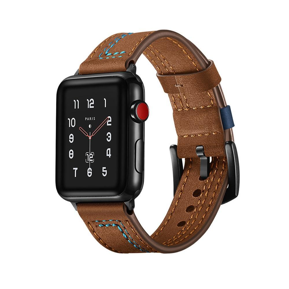 Apple Leather strap for apple watch 4 band 44mm 42mm iwatch 3 band 38mm/40mm bracelet Genuine Leather watchband belt accessories, USA Fast Shipping