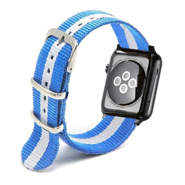 Apple Light BLue / 44mm Woven Nylon Band Watchband For Apple Watch 3 42mm 38mm fabric-like strap iwatch 3/2/1 wrist band nylon watchband belt