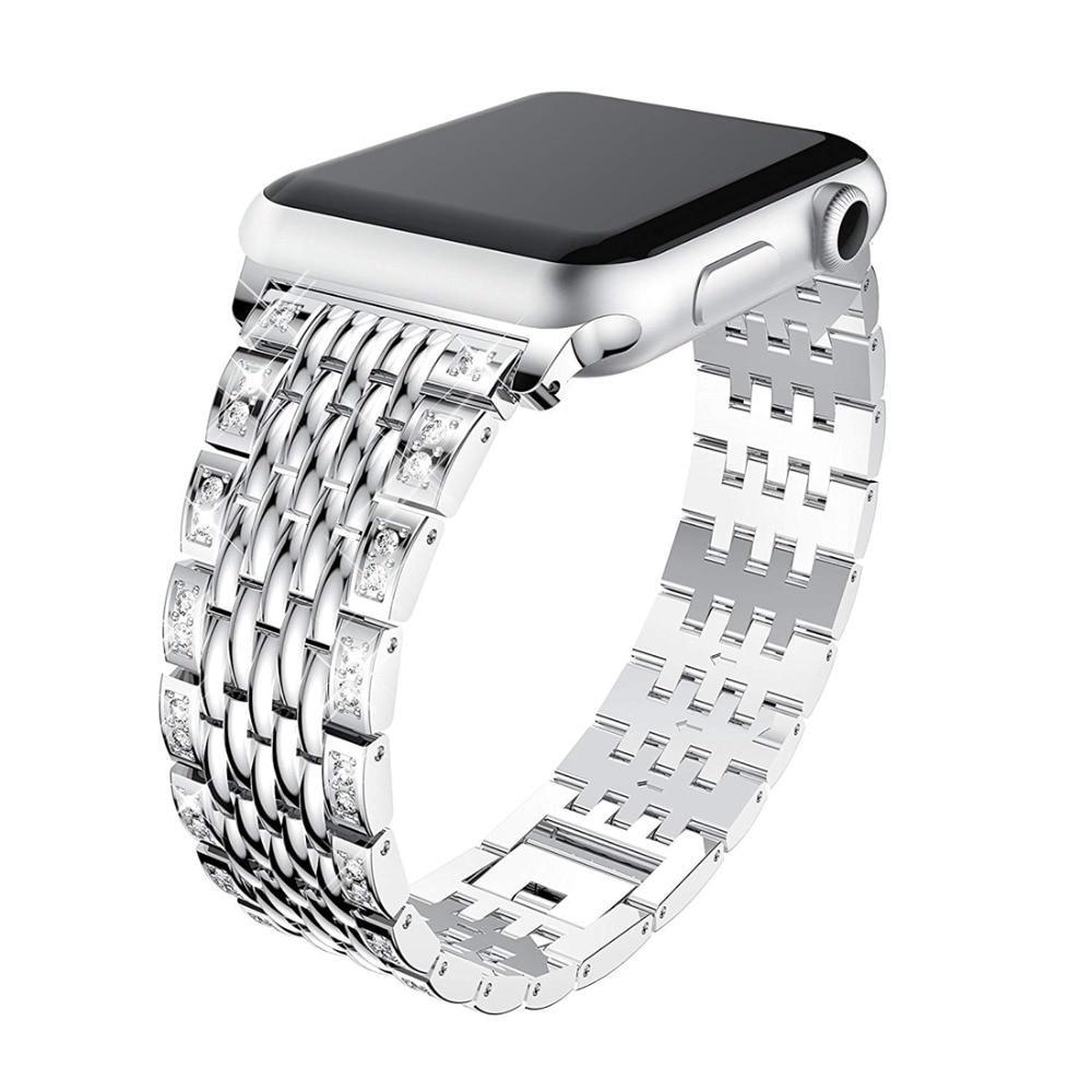 Apple Link bracelet strap For Apple watch band 42mm 38mm iwatch 4 band 44mm 40mm Diamond Stainless steel watchband Apple watch 4/3/2/1