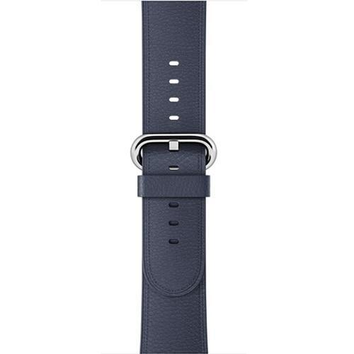 Apple Midnight Blue / 42 mm Leather Strap For Apple Watch Band 42mm 38mm iwatch 4/3 Bracelet 44mm 40mm bracelet Stainless Steel Classic Buckle Watchband, USA Fast Shipping