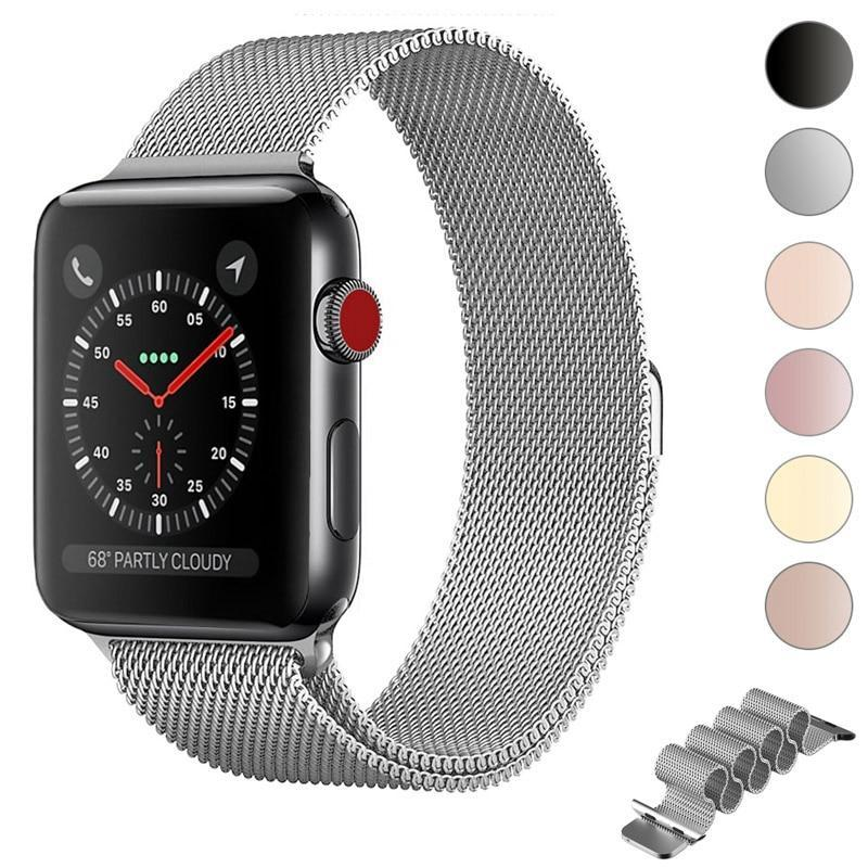 Apple milanese loop for apple watch Series 1 2 3 4 5 band for iwatch stainless steel strap Magnetic buckle 38mm 40mm 42mm44mm Bracelet