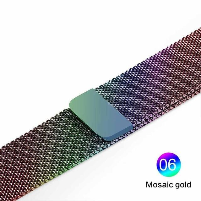Apple Mosaic gold / For 38MM and 40MM milanese loop for apple watch Series 1 2 3 4 5 band for iwatch stainless steel strap Magnetic buckle 38mm 40mm 42mm44mm Bracelet