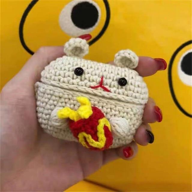 Apple Mouse New cartoon cute Knit earphone case for Airpod Pro For Apple New earphone cases Animal Character Pig Lovely Rabbit cover on AliExpress