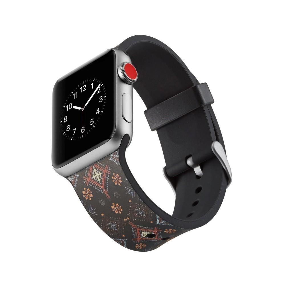 Apple New Brand Silicone Sports Band Boho chic print pattern, Colorful wrist Strap 38 44mm for Apple Watch bands 42mm Bracelet iwatch Series 4 3 2 1 Bohemian watchbands