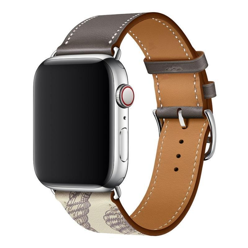 Apple New Leather loop bracelet band for apple watch series 5 4 44mm 40mm bracelet watch band strap for iwatch 42mm 38mm series 1 2 3
