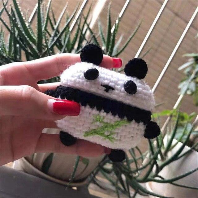 Apple Panda New cartoon cute Knit earphone case for Airpod Pro For Apple New earphone cases Animal Character Pig Lovely Rabbit cover on AliExpress