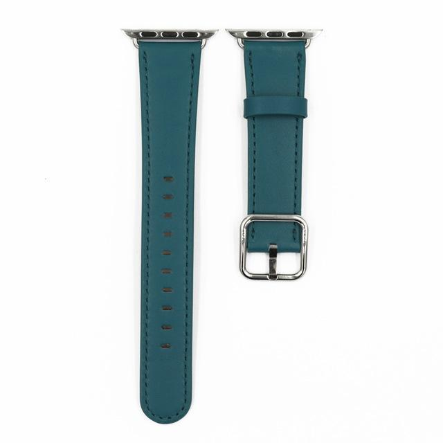 Apple Peacock blue / 38mm / 40mm Apple Watch Series 5 4 3 2 Band, Classic Buckle Band for iWatch Calf Leather With Square Buckle Modern Design 38mm, 40mm, 42mm, 44mm