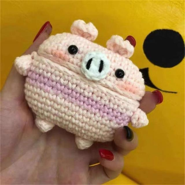 Apple Pig New cartoon cute Knit earphone case for Airpod Pro For Apple New earphone cases Animal Character Pig Lovely Rabbit cover on AliExpress