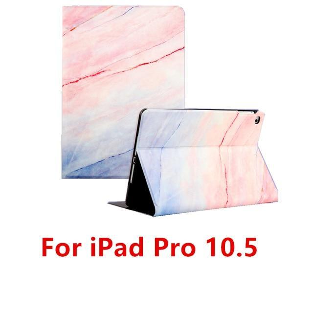 Apple Pink 10.5 For iPad 9.7 2017 2018 Case A1893 Silicone Soft Back Marble PU Leather Smart Cover for iPad Air 2 1 Pro 10.5 Mini 1 2 3 4 Funda