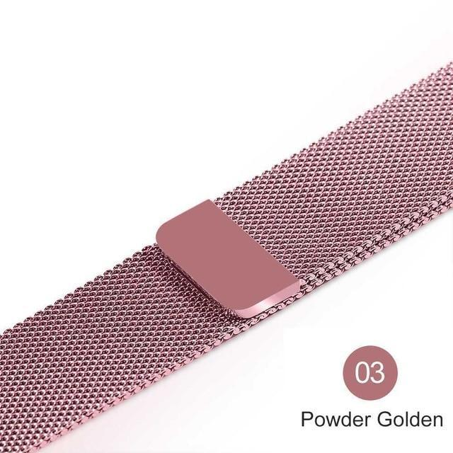 Apple Powder Golden / For 38MM and 40MM milanese loop for apple watch Series 1 2 3 4 5 band for iwatch stainless steel strap Magnetic buckle 38mm 40mm 42mm44mm Bracelet