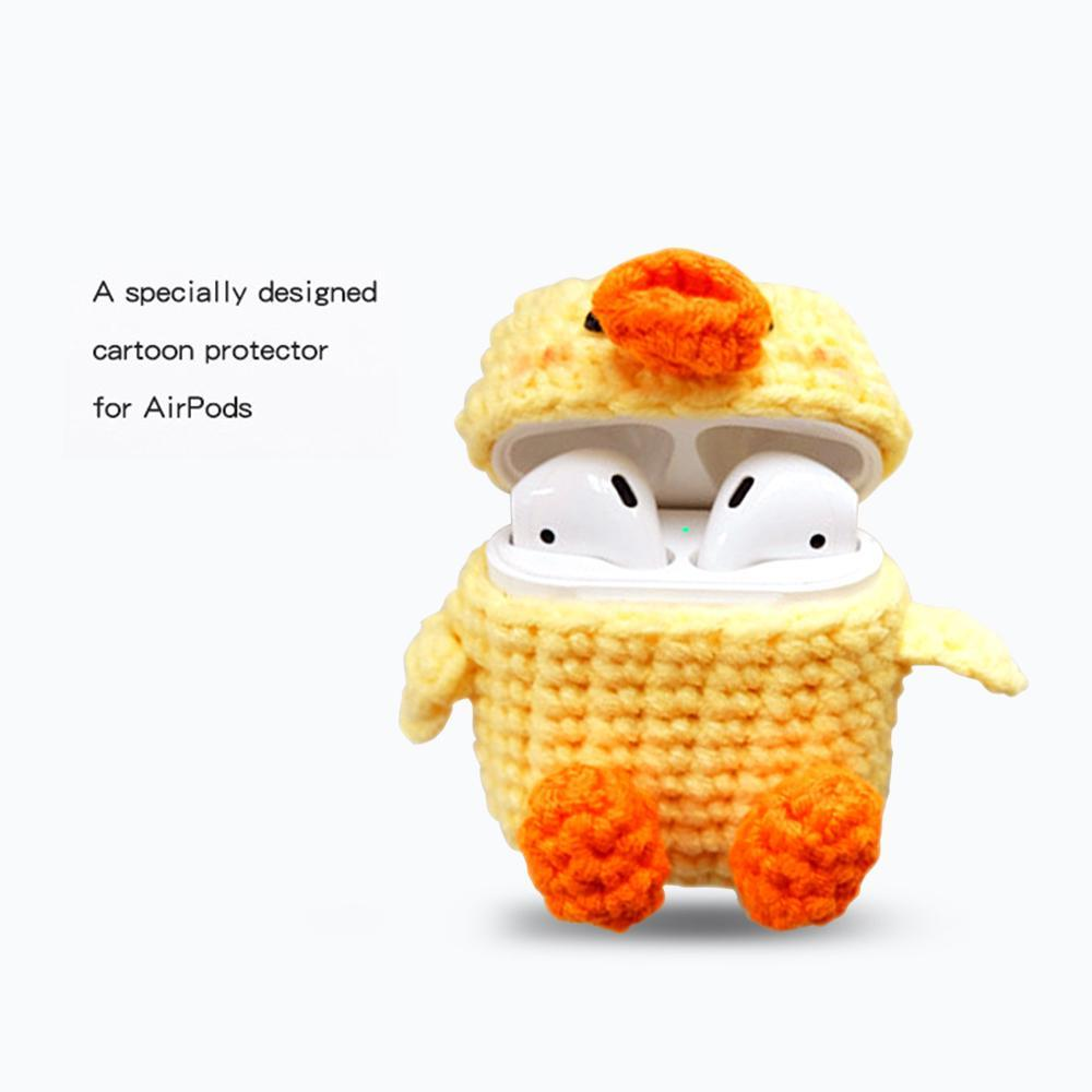 Apple Protective Knitted Case for Airpods Handmade Cute Cartoon knitting wool Protector Cove for Apple air pods Accessories