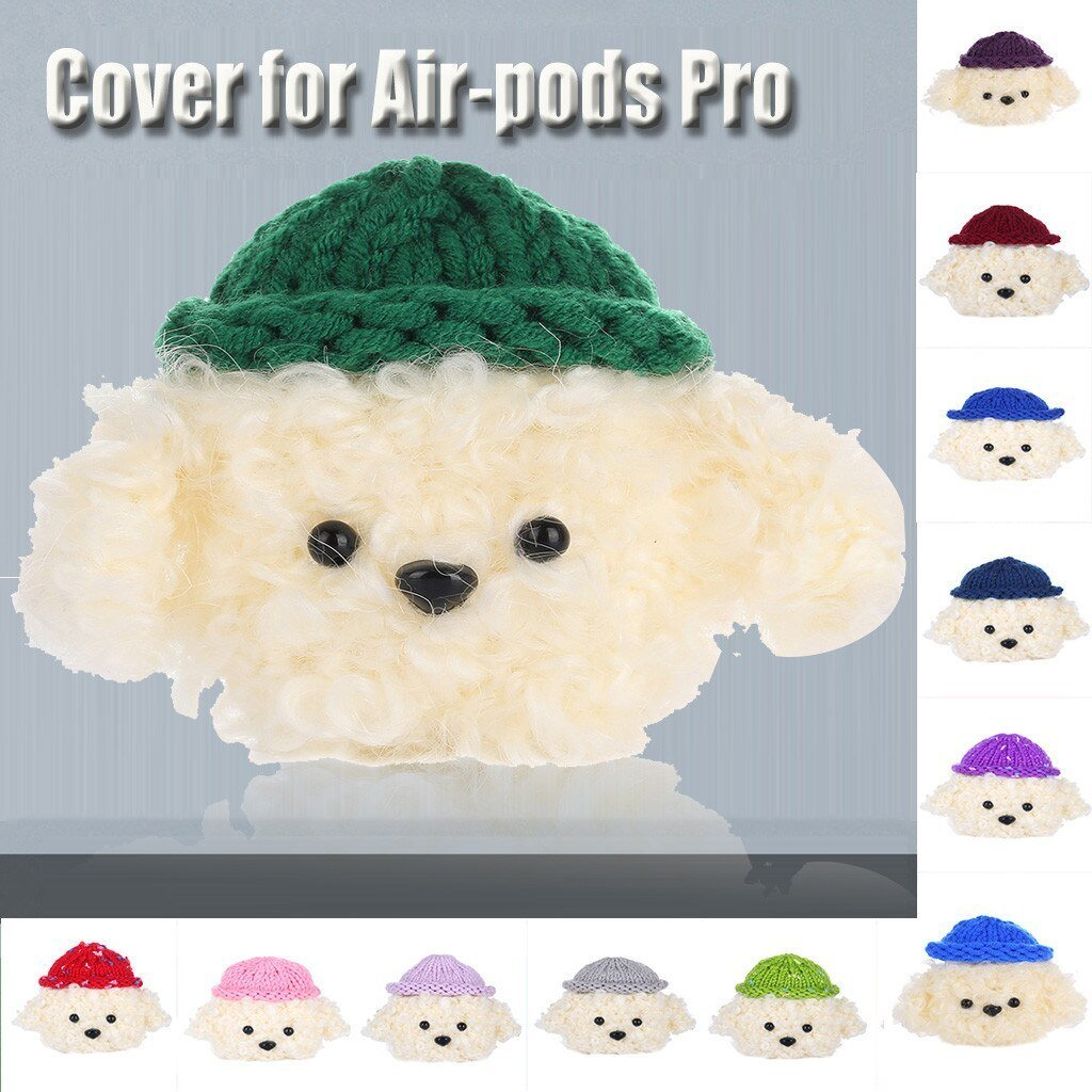 Apple Protector For AirPods Pro 2019 Wireless Charging Case Knitted Lovely Plush Anti lost Protective Skin Cover 19Oct30 on AliExpress