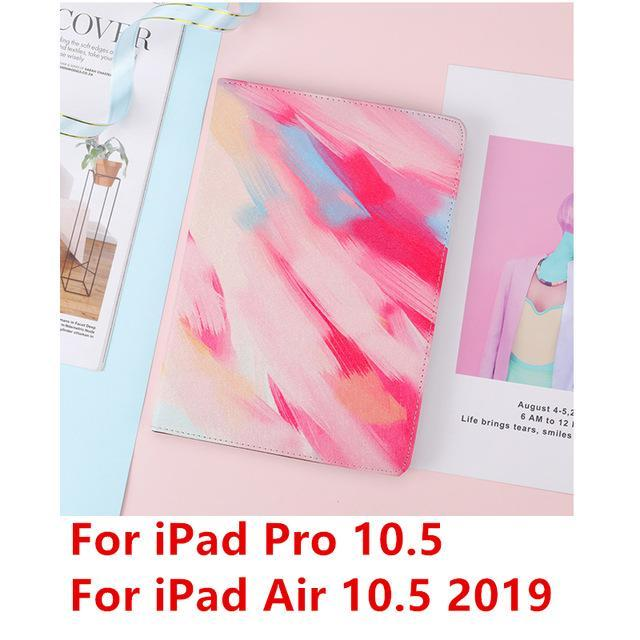 Apple Red Pro 10.5 For iPad 9.7 2017 2018 Case A1893 Silicone Soft Back Marble PU Leather Smart Cover for iPad Air 2 1 Pro 10.5 Mini 1 2 3 4 Funda
