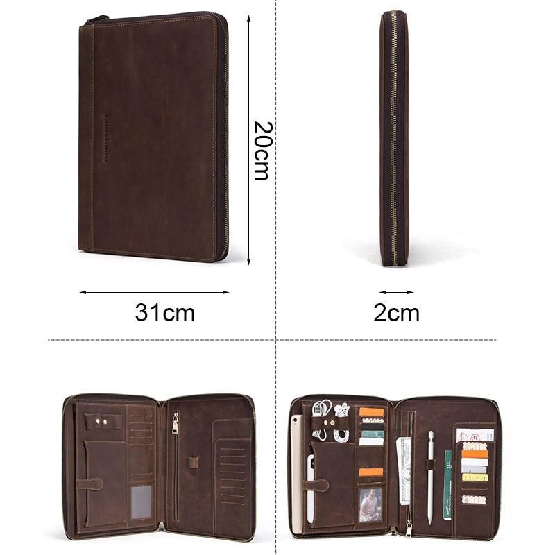 Apple Retro leather case For iPad Pro 10.5 Air 3 11 2019 folio Phone Pocket Earphone Pouch Passport Holder protective zipper around