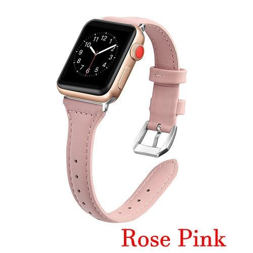 Apple Rose / 42mm 44mm AW Pulseira strap For apple watch band iwatch 4 3 42mm 38mm 44mm 40mm correa for apple watch band leather Bracelet Accessories, USA Fast Shipping