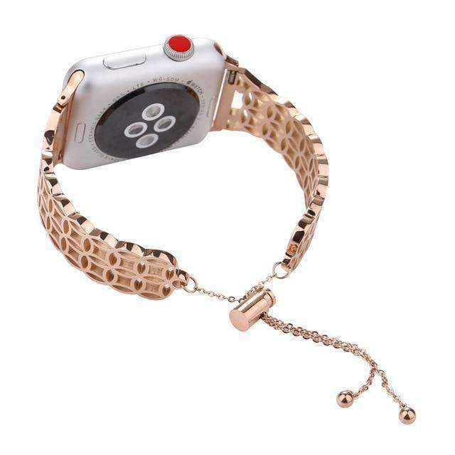 Apple Rose gold A / For 42mm Apple Watch Band Love bracelet adjustable cuff Iwatch 44mm/ 40mm/ 42mm/ 38mm Metal Ladies Watch Strap Series 1 2 3 4