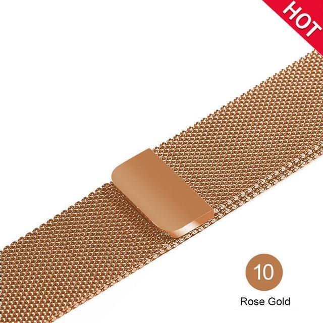 Apple Rose Gold / For 38MM and 40MM milanese loop for apple watch Series 1 2 3 4 5 band for iwatch stainless steel strap Magnetic buckle 38mm 40mm 42mm44mm Bracelet