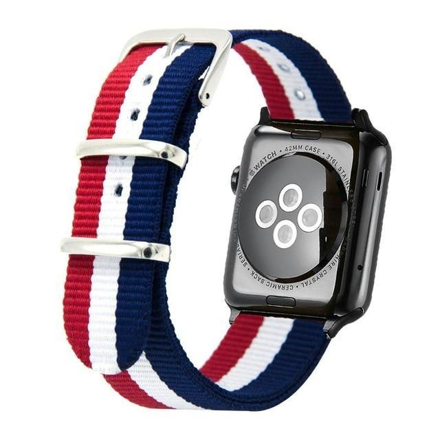 Apple RWB / 44mm Woven Nylon Band Watchband For Apple Watch 3 42mm 38mm fabric-like strap iwatch 3/2/1 wrist band nylon watchband belt