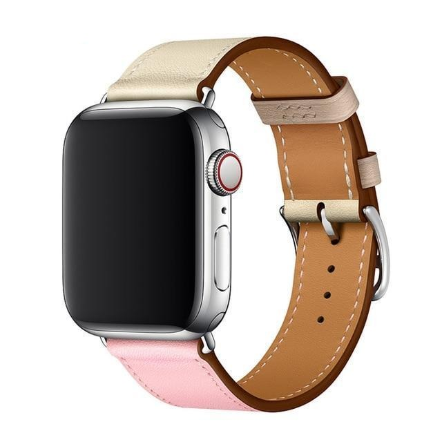 Apple Sakura Craie Argile / 38mmor 40mm Apple watch Leather Strap For  herm band 4 3 iwatch band 42mm 38mm 44mm 40mm  bracelet for apple watch 4, US Fast Shipping