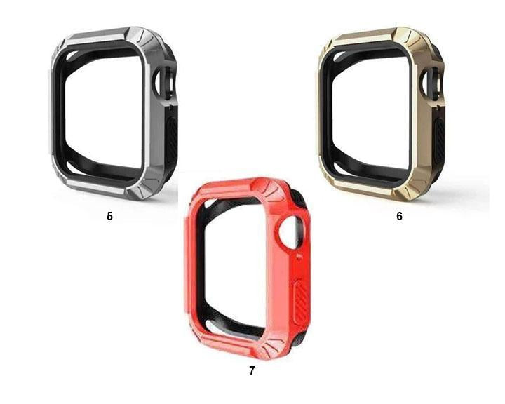 Apple Silicone Protector Cover For Apple Watch 4 case 40MM 44MM iwatch band series 4 Replacement Two in one Anti-fall Shell - USA Fast Shipping