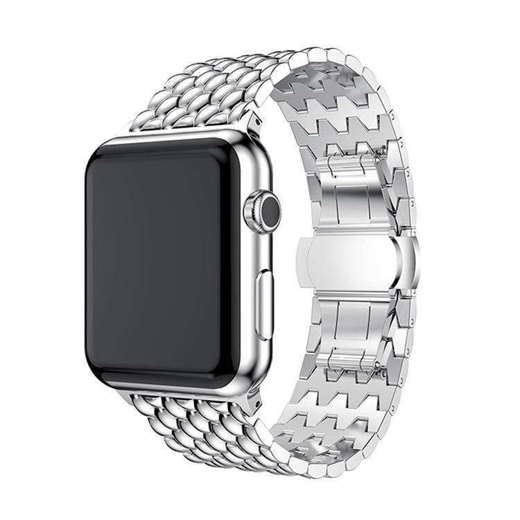 Apple Silver / 38mm / 40mm Apple Watch Series 5 4 3 2 Band, Business Professional Style, Stainless Steel Strap Watch Band 40mm 44mm 38mm 42mm