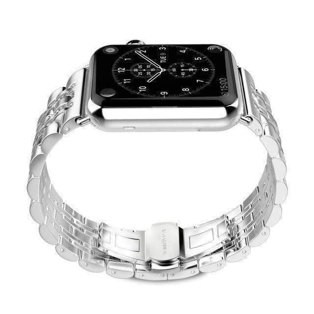 Apple Silver / 38mm / 40mm Apple Watch Series 5 4 3 2 Band, Stainless Steel Rolex Style Strap, Links Watchband Smart Watch Metal Bracelet 38mm, 40mm, 42mm, 44mm