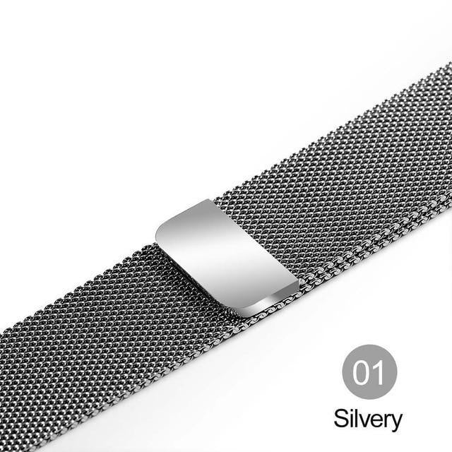 Apple Silver / For 38MM and 40MM milanese loop for apple watch Series 1 2 3 4 5 band for iwatch stainless steel strap Magnetic buckle 38mm 40mm 42mm44mm Bracelet