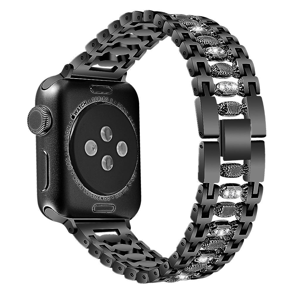 Apple Stainless Steel Women bling band for apple watch band 38mm/42mm Bracelet Adjustable Strap for apple watch 4/3/2/1 band