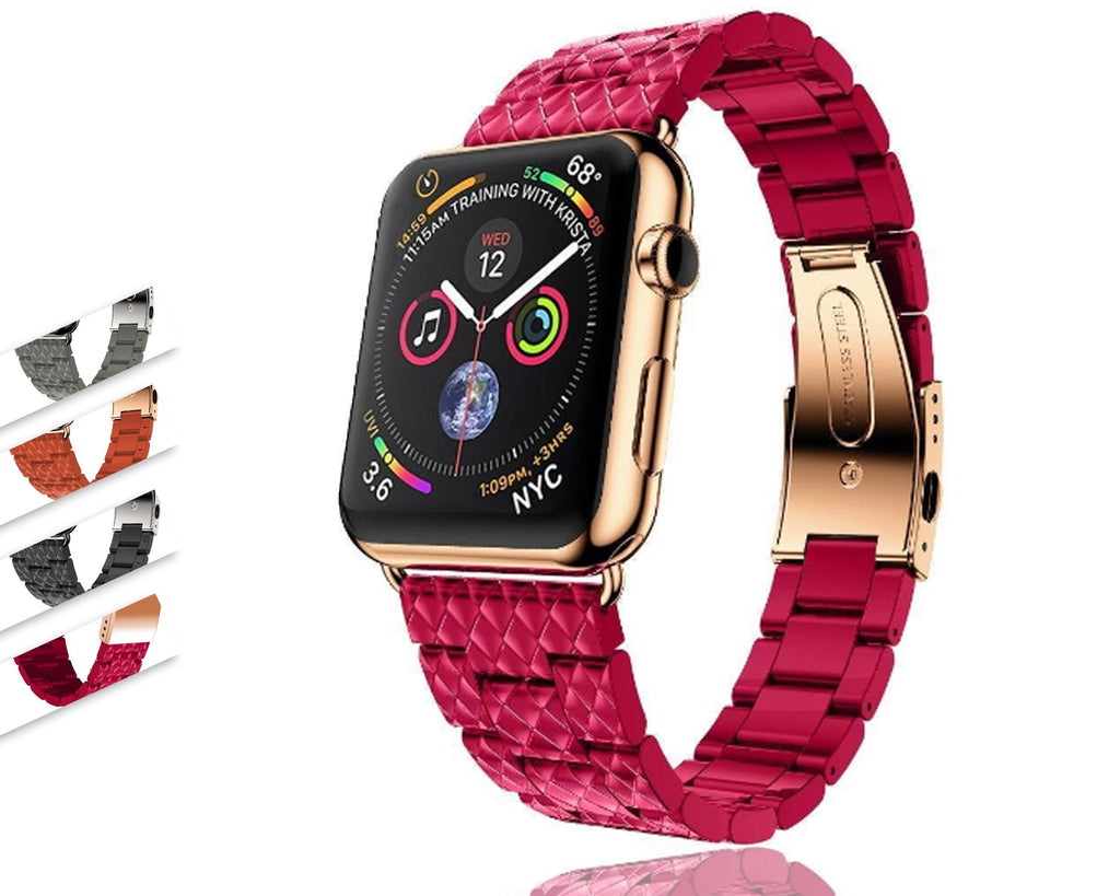 Apple Strap For Apple Watch band 4/3 42mm 38mm iwatch band apple watch 4 44mm 40mm faux resin ceramic Link bracelet belt watch Accessories - USA Fast Shipping