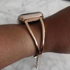apple watch bands Rose Gold / 38mm / 40mm Apple Watch Series 5 4 3 2 Band, Apple Watch Minimalist Band Cuff, Luxury Bracelet Fits 38mm 40mm 42mm 44mm - US fast shipping