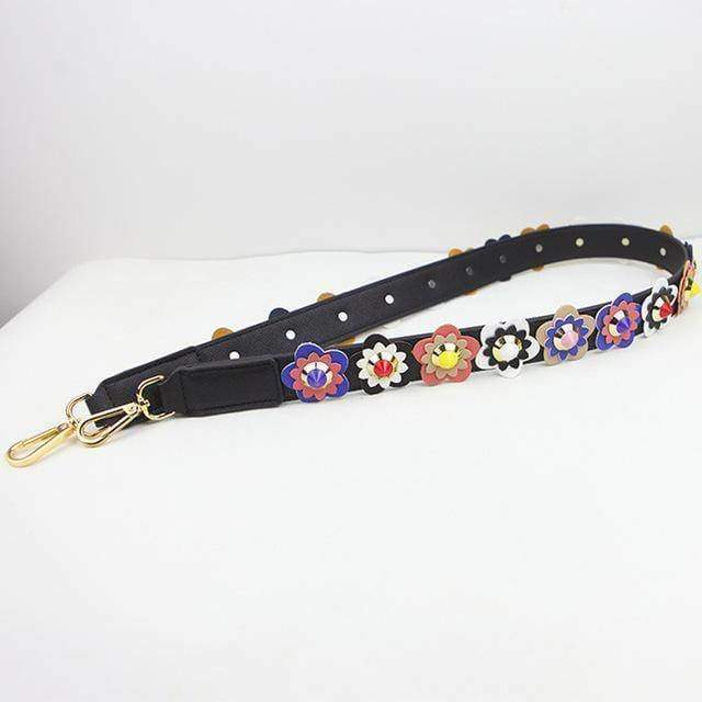 Bag Accessories 4 Colorful Flower Rivet Shoulder Strap