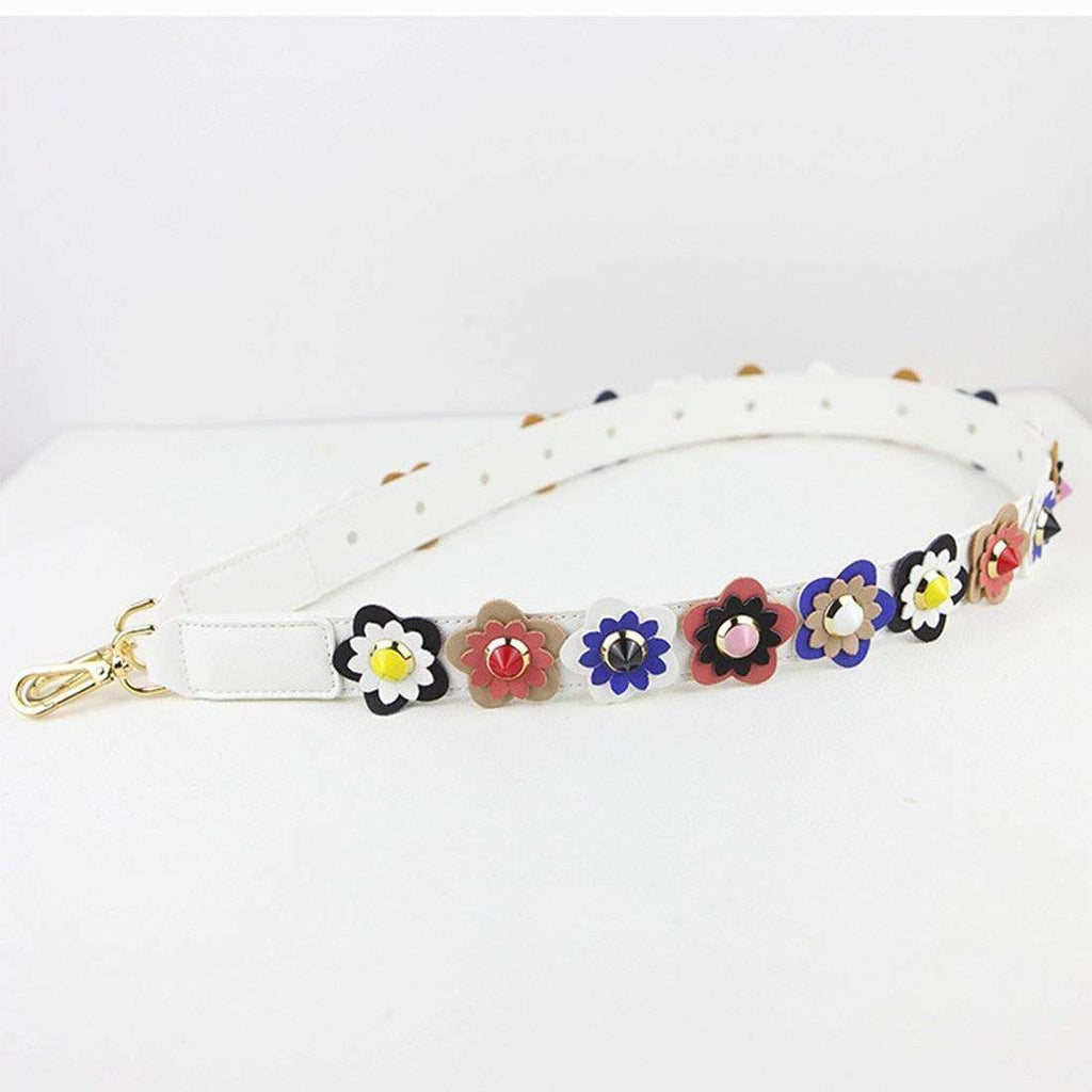 Bag Accessories Colorful Flower Rivet Shoulder Strap