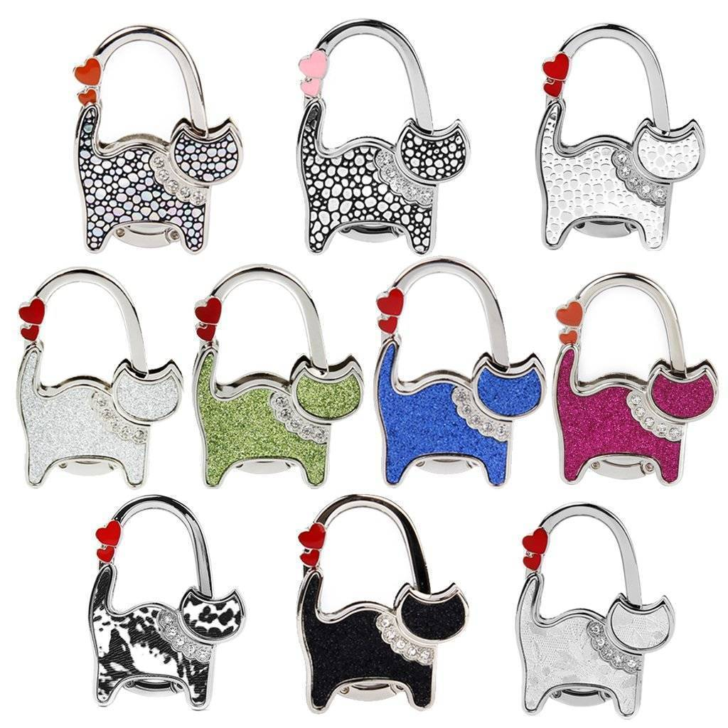 bag organization 10 Designs, Cat Foldable Bag Rhinestone Hanger hook