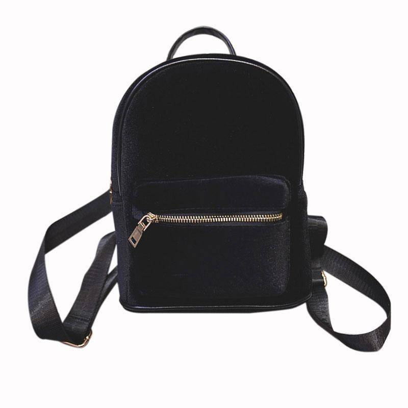 bags Black Petite Velvet Designer Backpack Soft Backpack