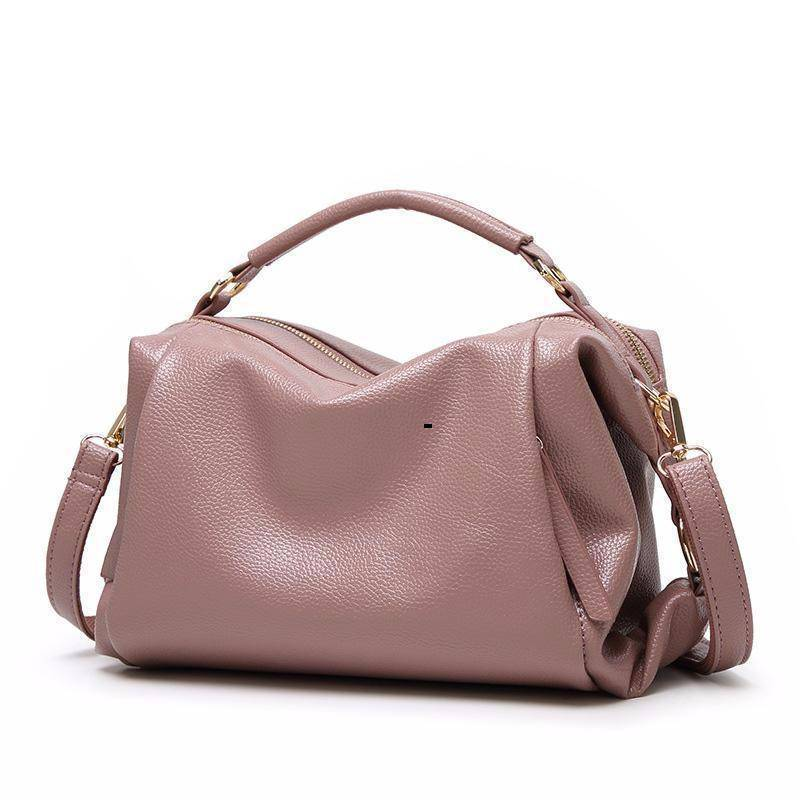 Bags Boston Women Handbag, Lichee Pattern Vegan Leather Bag
