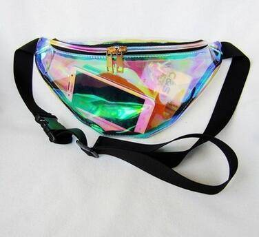 bags clear Laser translucent reflective waist bag