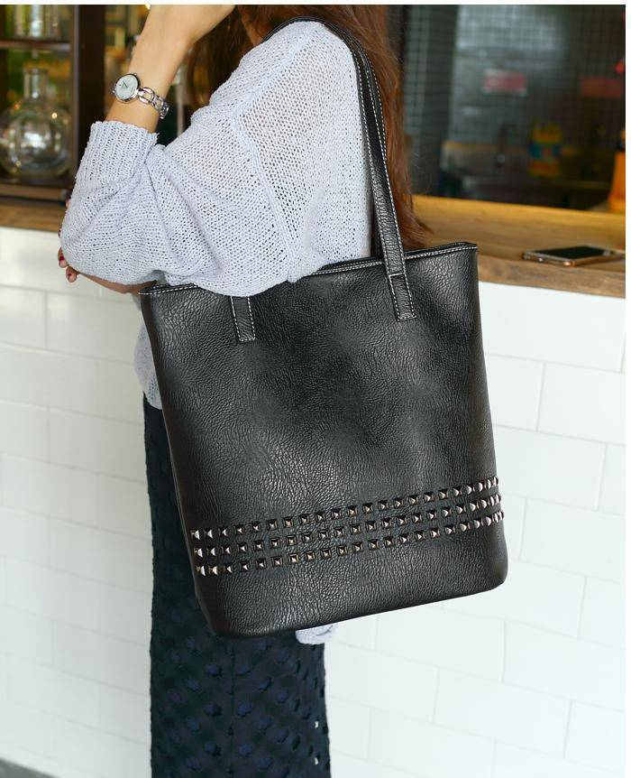bags Large Rivet tote Women Shoulder Bag, Messenger Bag