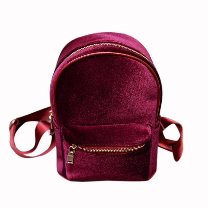 bags Red Petite Velvet Designer Backpack Soft Backpack