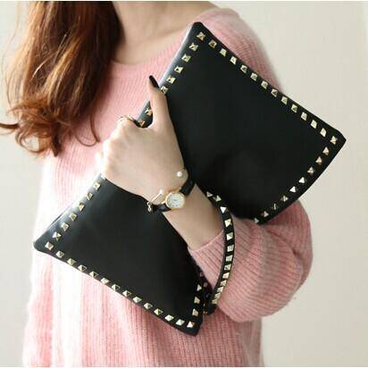 bags Rivet envelope bags, Women Clutches evening bag, ipad sleeve