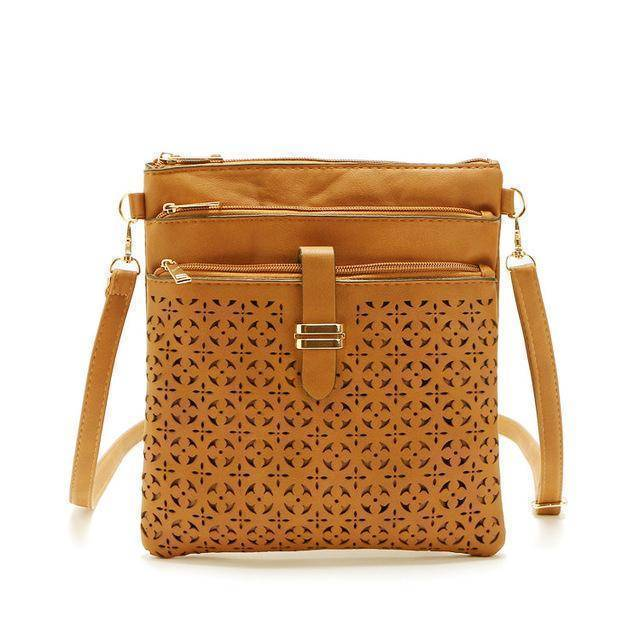 bags Yellow Brown One Hollow out shoulder, cross body bag