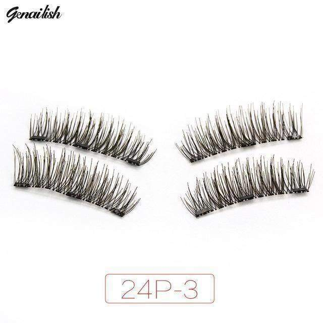 beauty 24P-3 3x fuller Magnetic eyelashes with 3 magnets