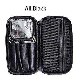 beauty Black Double Layer Portable travel cosmetic beauty Bag